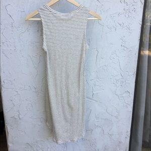 Tight striped cotton dress.